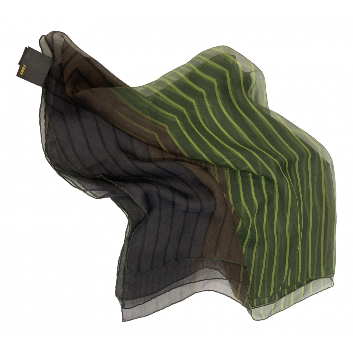 Fendi \N Green Silk scarf for Women \N