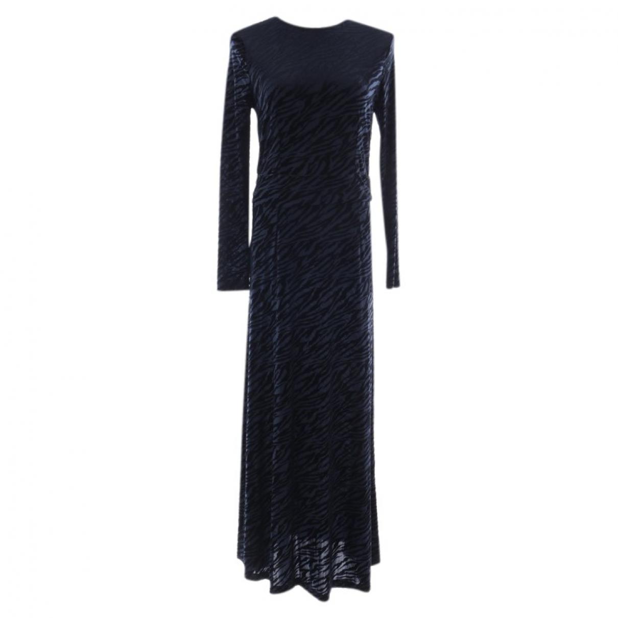 Ganni \N Kleid in  Blau Polyester