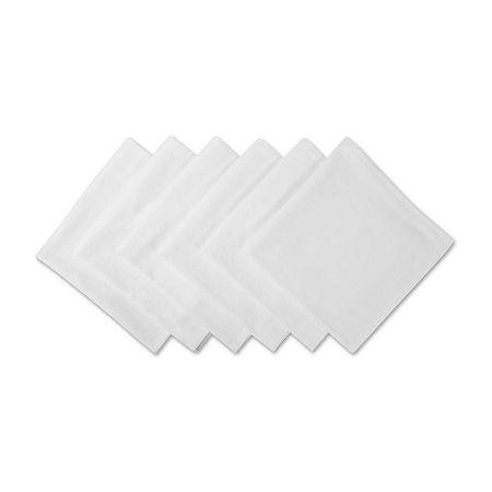 Design Imports Cotton 6-pc. Napkins, One Size , White