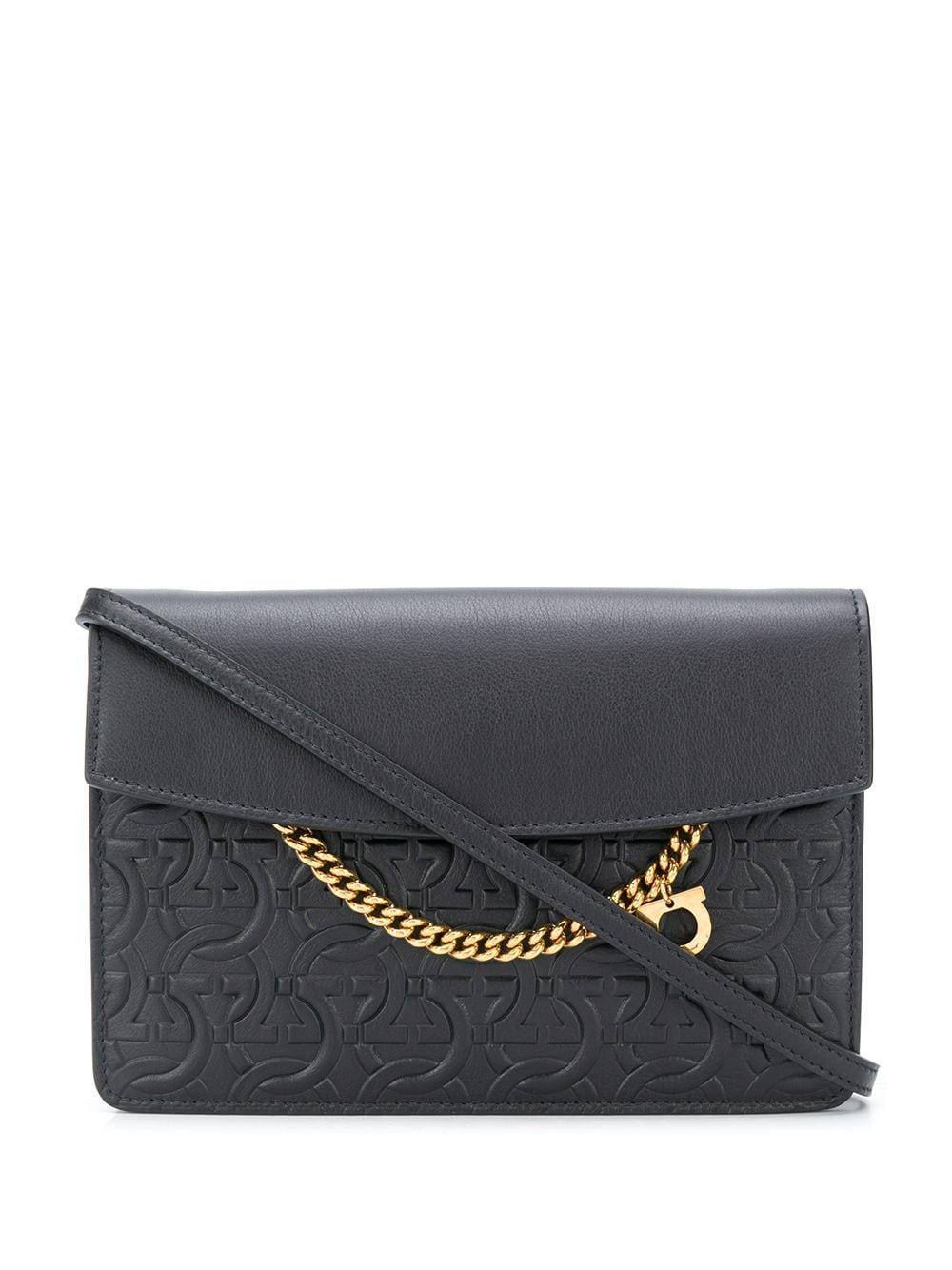 Gancini Leather Crossbody Bag
