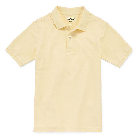 IZOD Pique Little & Big Boys Short Sleeve Stretch Polo Shirt, Xx-small , Yellow