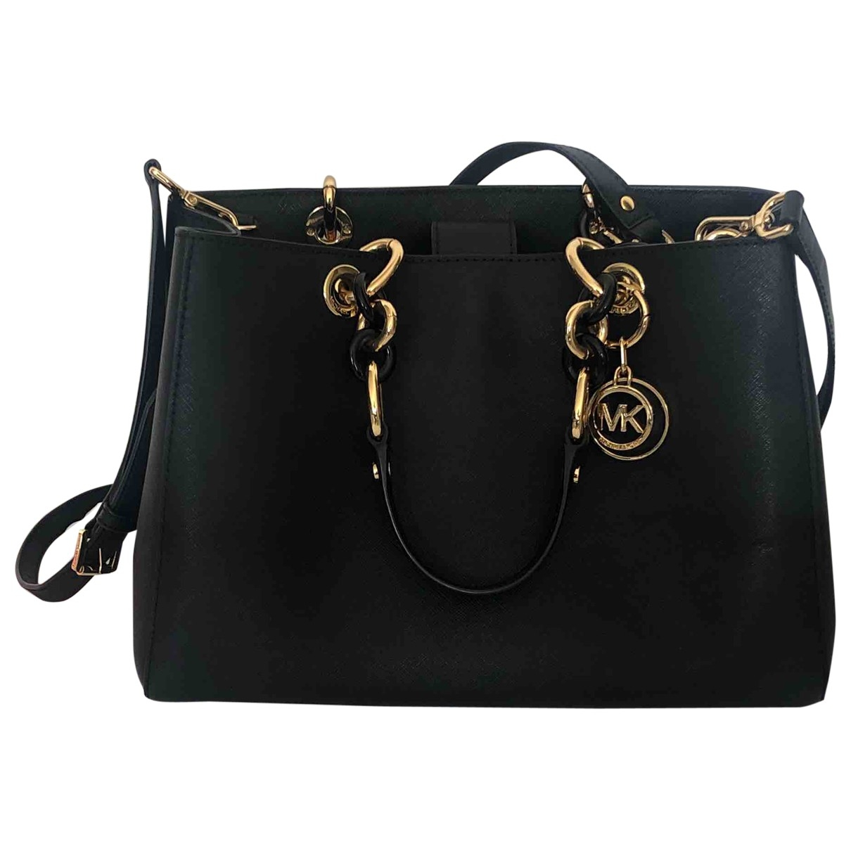Michael Kors Cynthia Black Leather handbag for Women \N
