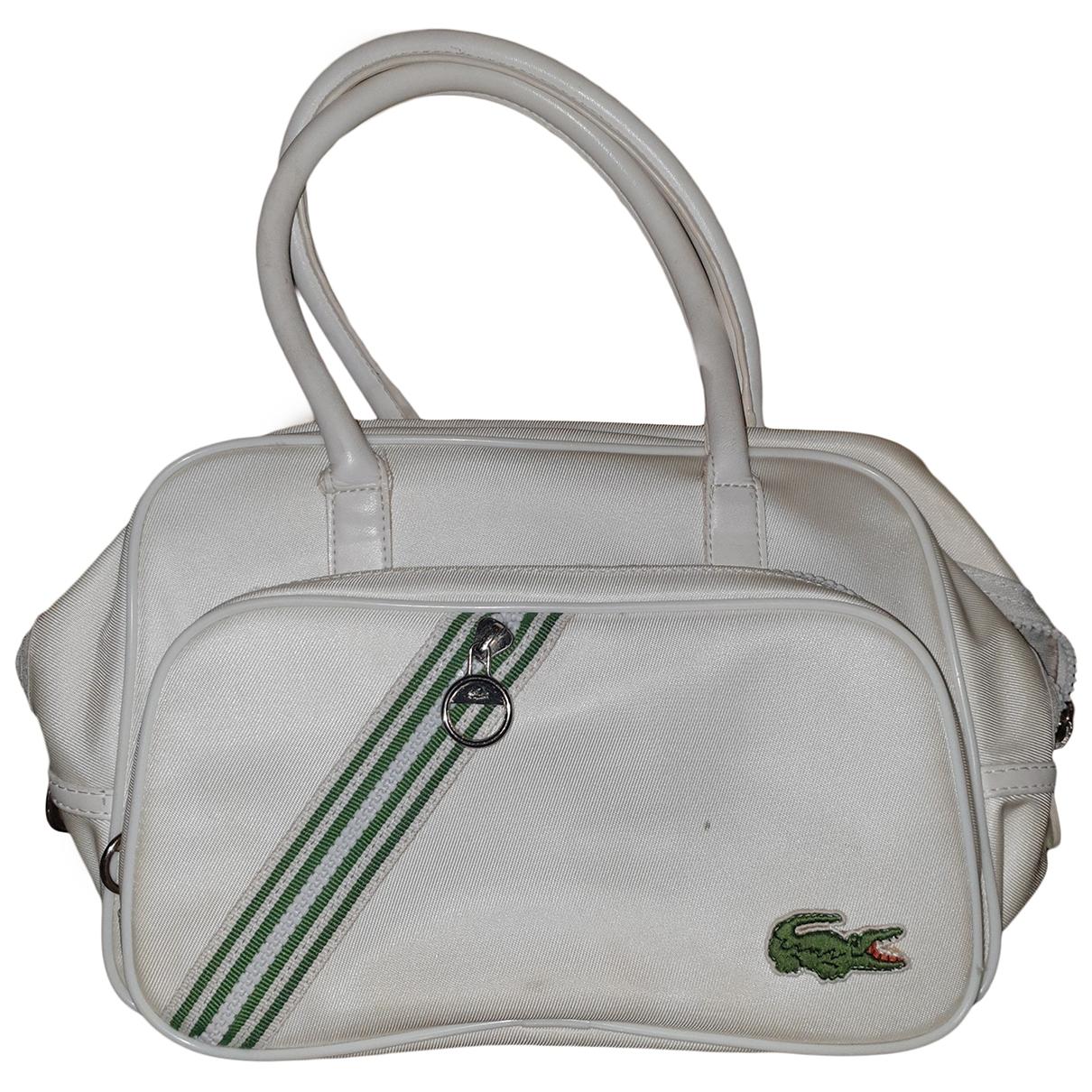 Lacoste \N Handtasche in  Weiss Leinen