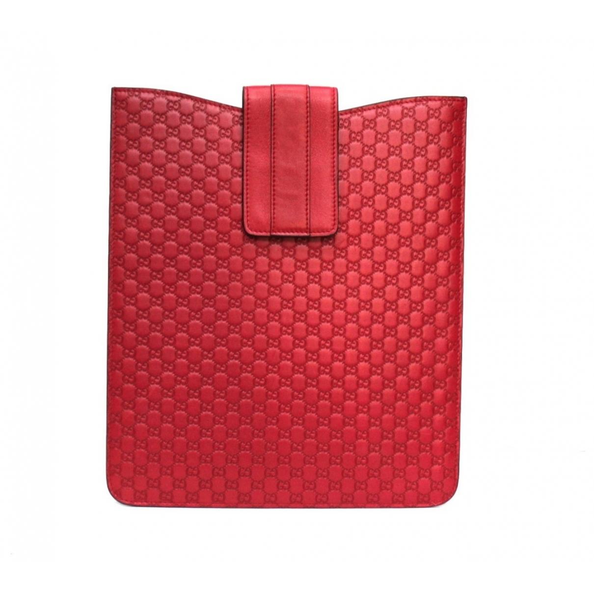 Gucci \N Accessoires in  Rot Leder