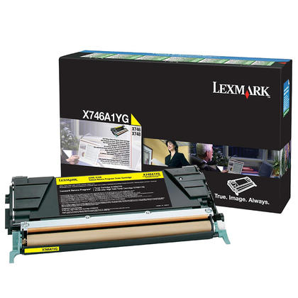 Lexmark X746A1YG Original Yellow Return Program Toner Cartridge