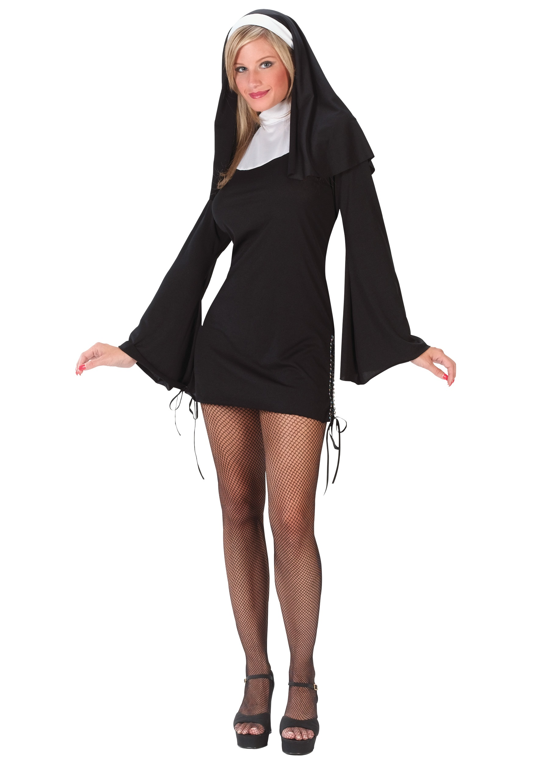 Naughty Nun Costume w/ Dress & Headpiece | Sexy Halloween Costume
