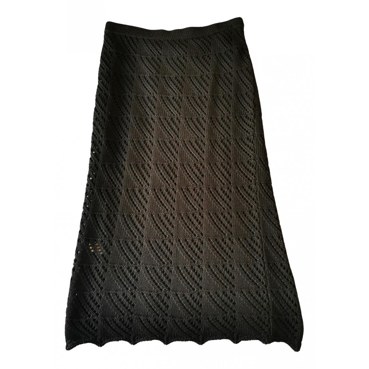 - Jupe   pour femme en laine - noir