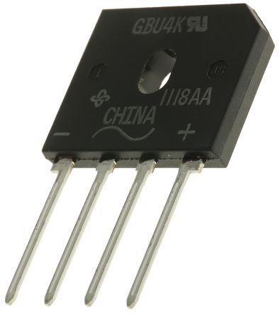 Vishay GBU4K-E3/45, Bridge Rectifier, 4A 800V, 4-Pin GBU (5)
