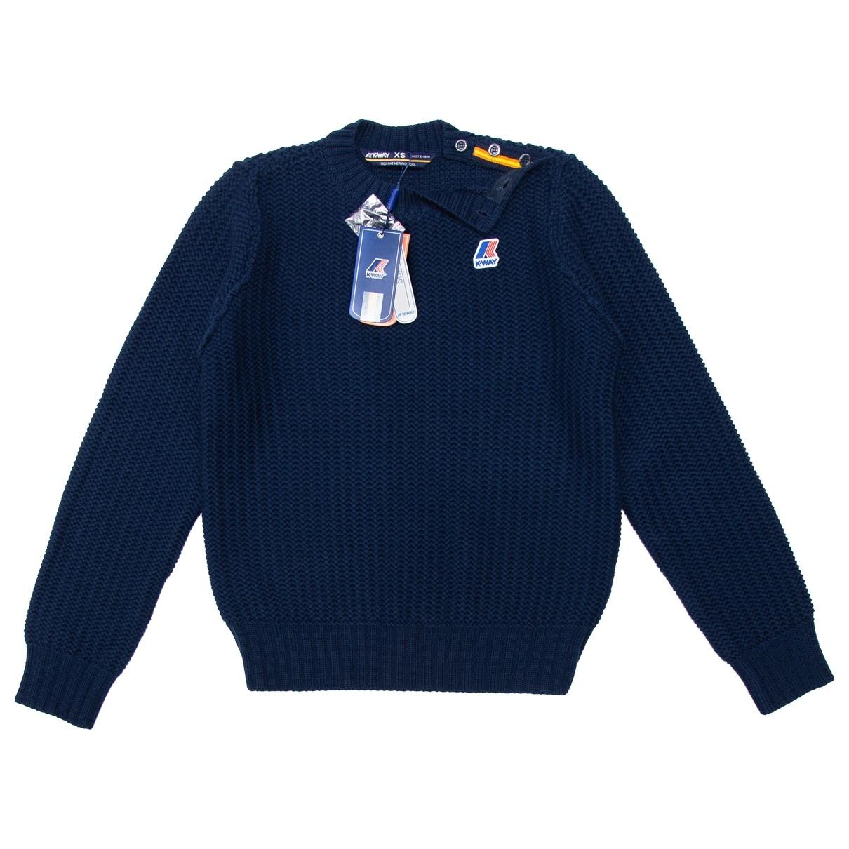 K-way \N Pullover.Westen.Sweatshirts  in  Marine Wolle