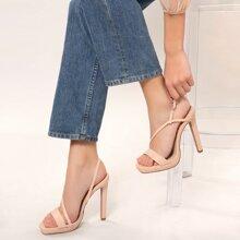 Multi Strap Platform Stiletto Heel Sandals