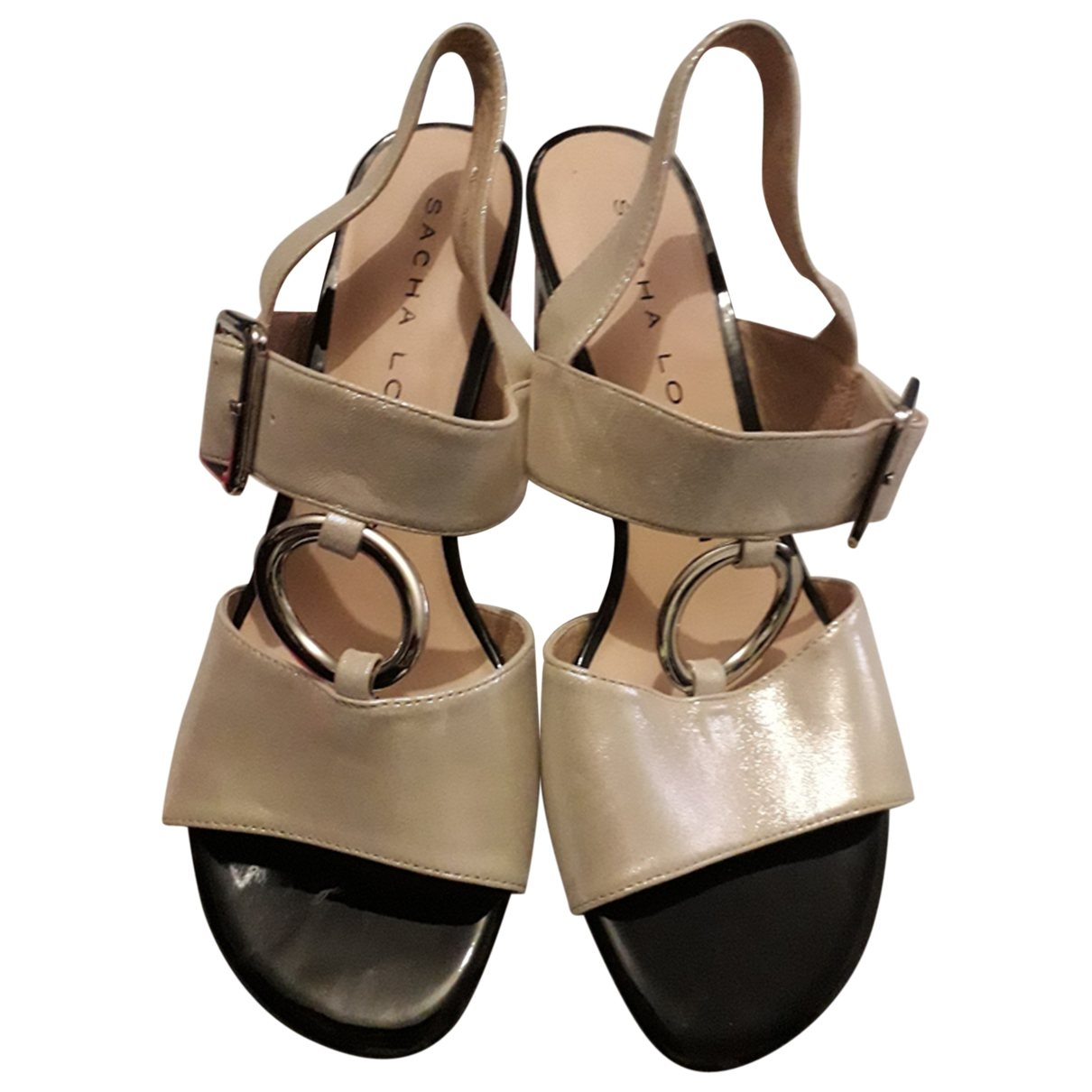 Non Signé / Unsigned \N Beige Leather Sandals for Women 40 EU