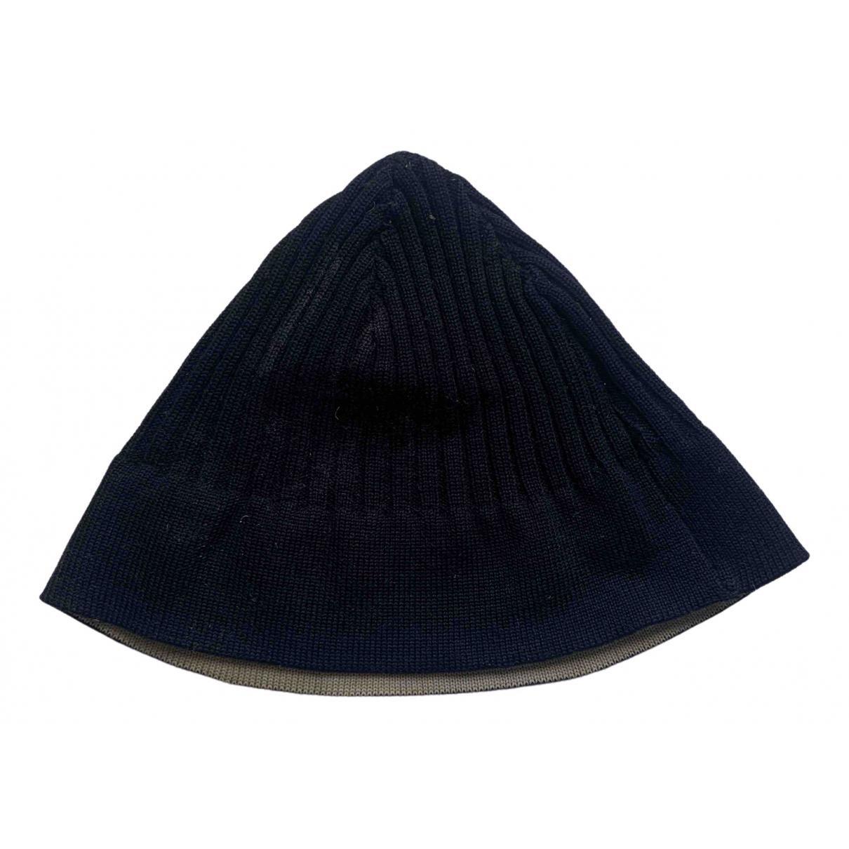 Emporio Armani \N Navy Wool hat & pull on hat for Men S International