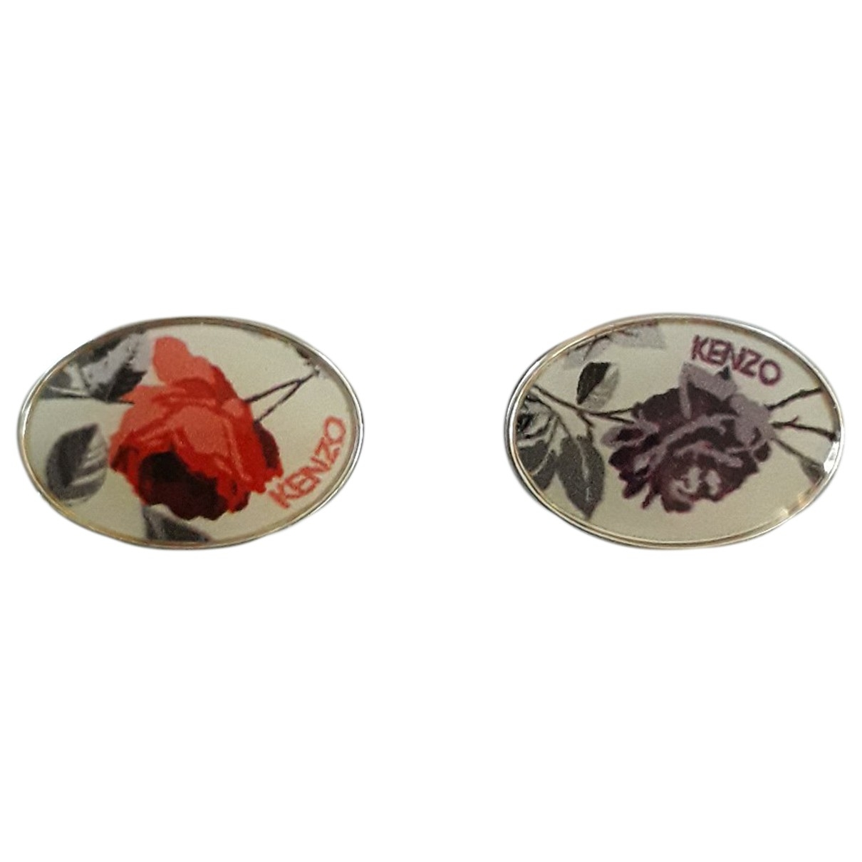 Kenzo \N Manschettenknopfe in  Silber Stahl