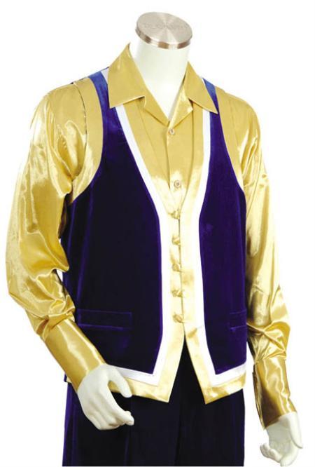Mens Fashion 2pc Blue Denim Vest Sets