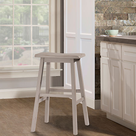 Moreno Backless Barstool, One Size , Gray