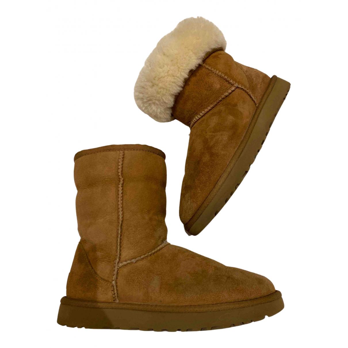 Ugg - Boots   pour femme en fourrure - marron