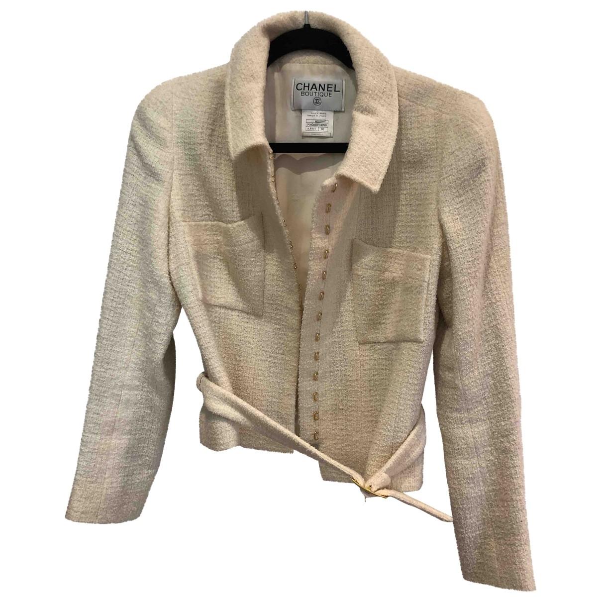 Chanel \N Beige Wool jacket for Women 40 FR