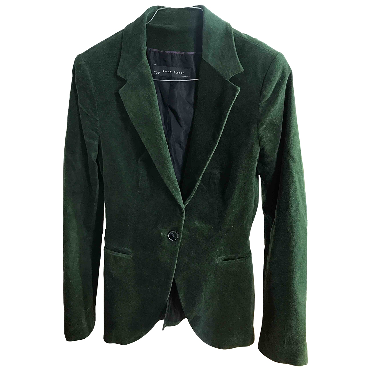 Zara - Veste   pour femme en suede - vert