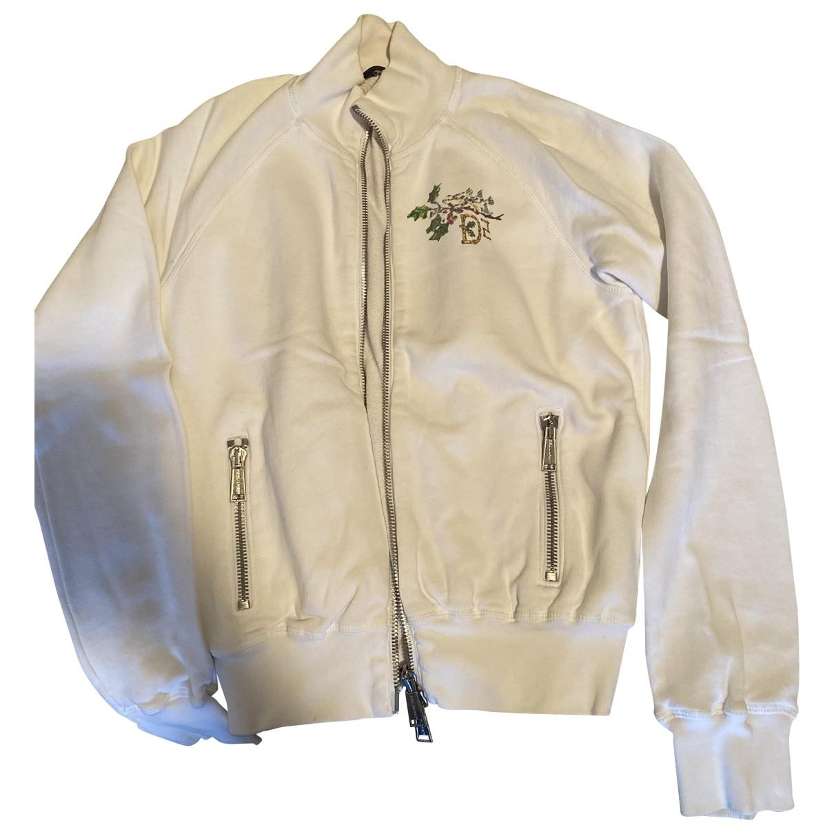 Dsquared2 - Pull   pour femme en coton - blanc