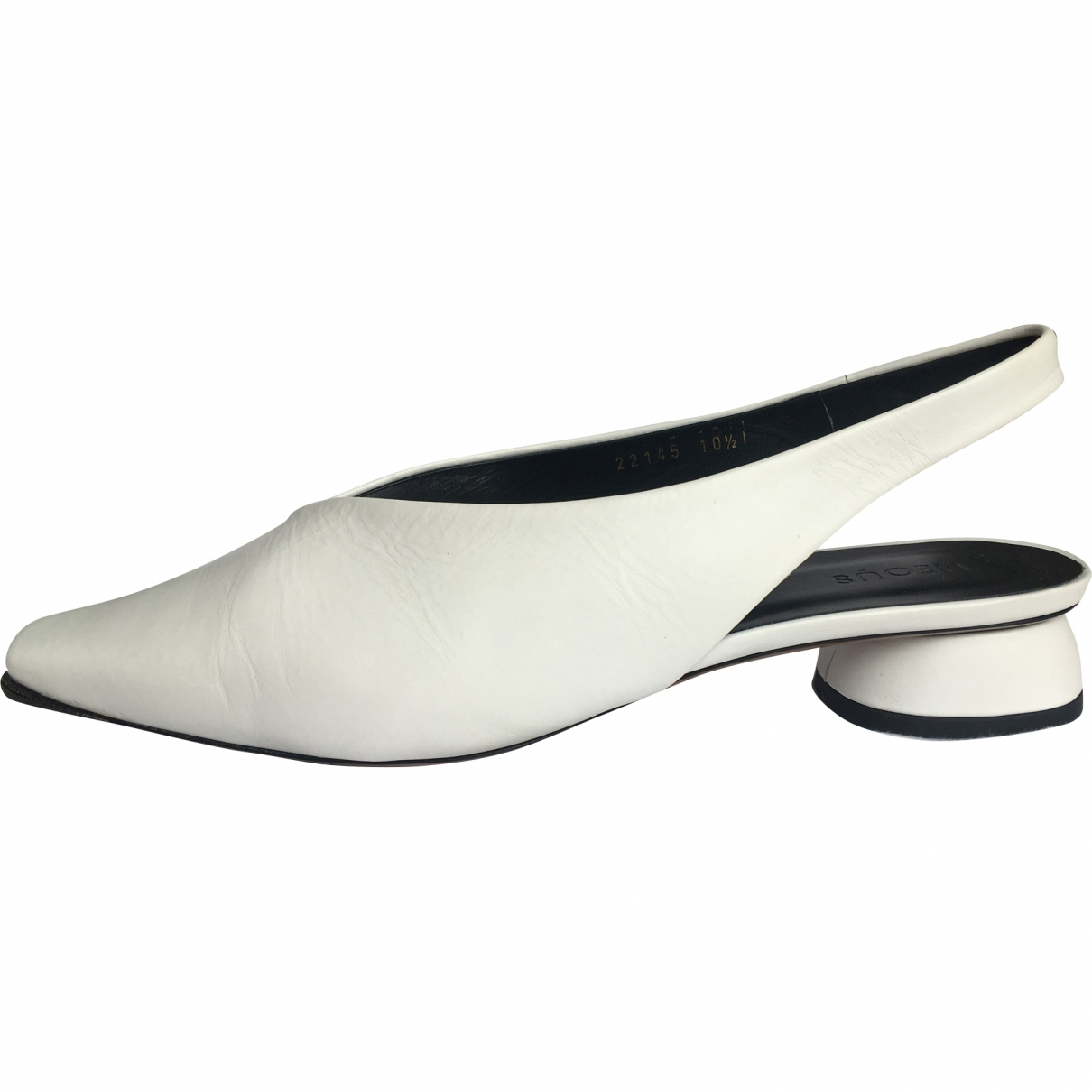 Neous \N White Leather Heels for Women 40.5 EU