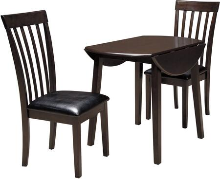 Hammis Collection 3-Piece Dining Room Set with Round Dining Table and 2 Side Chairs in Dark