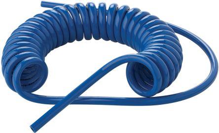 CEJN Coil Tube 8mm Diameter, 2m Long Blue PUR 10 bar