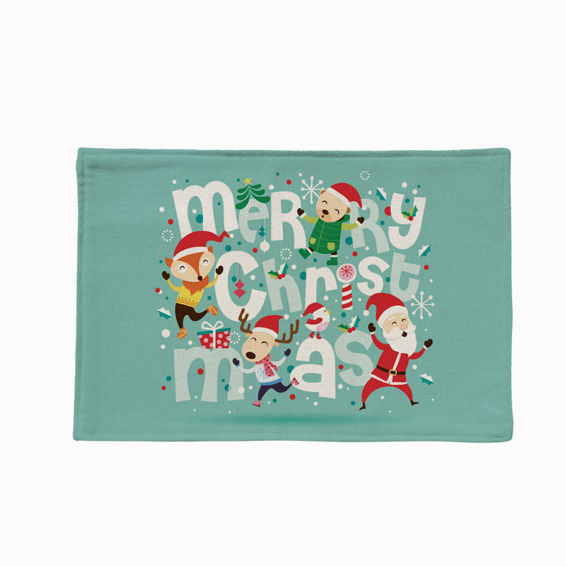 Blue Series Christmas Double Layer Waterproof Placement
