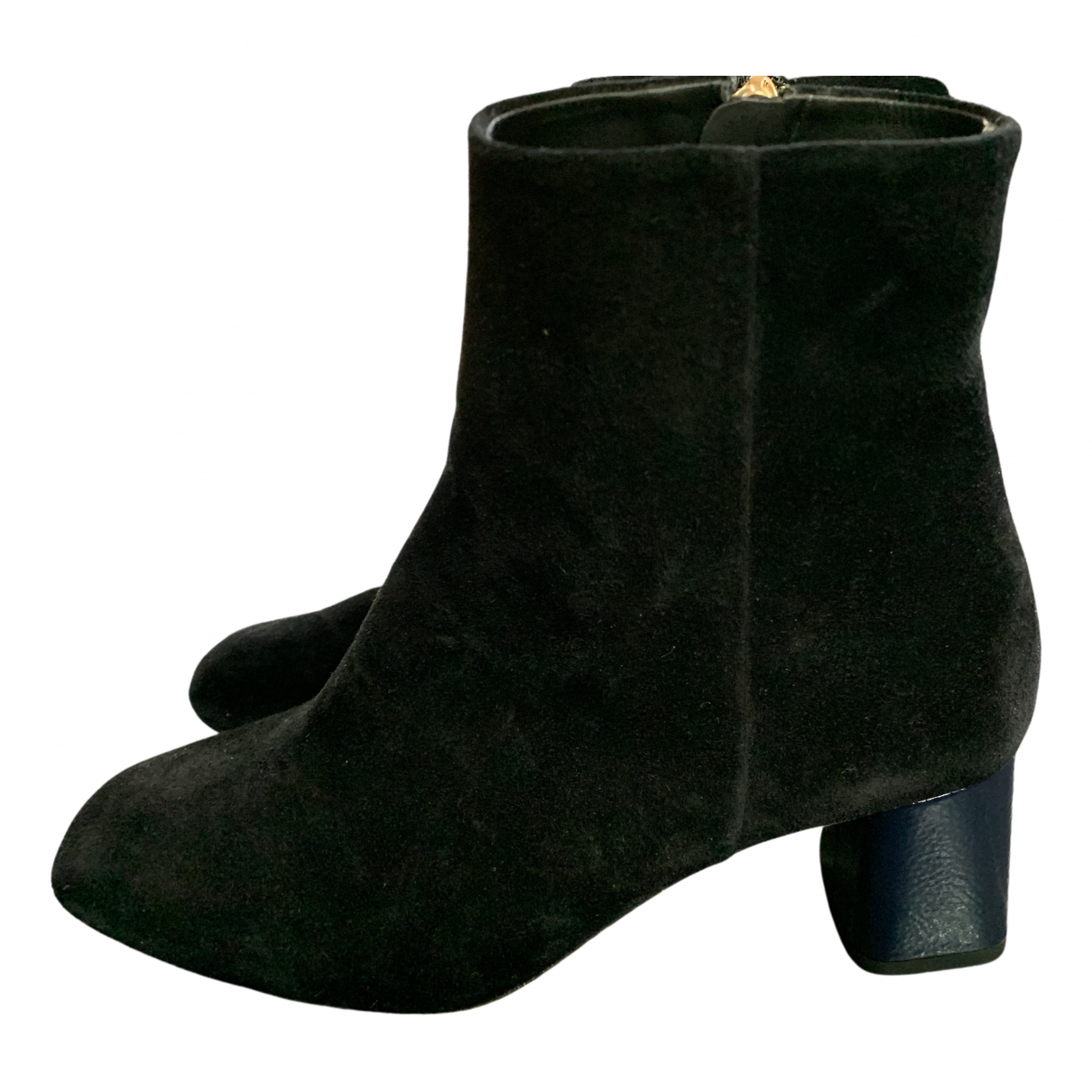 Repetto N Black Leather Ankle boots for Women 37 EU