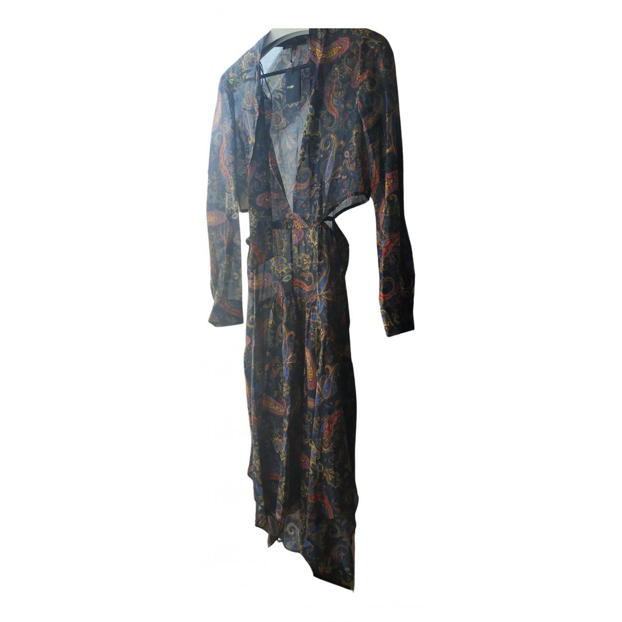 Maje Fall Winter 2019 Kleid in  Bunt Baumwolle