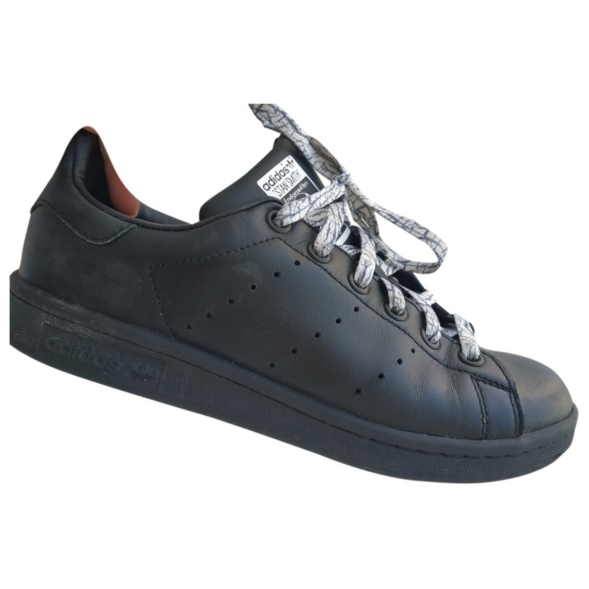 Adidas Stan Smith Black Leather Trainers for Women 37.5 EU