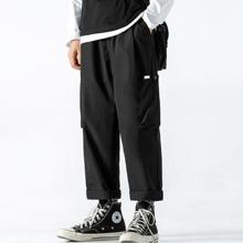 Men Solid Pocket Side Cargo Pants