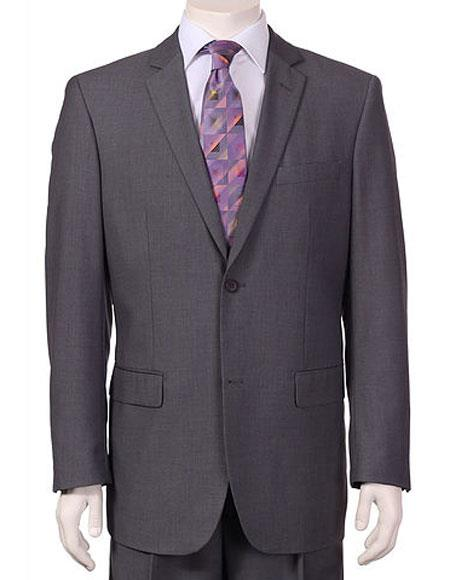 Men's Vitali Single Breasted Authentic 2 Button Charcoal Slim Fit Suit