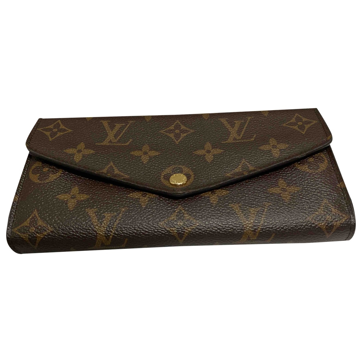 Louis Vuitton - Portefeuille Josephine pour femme en toile - marron