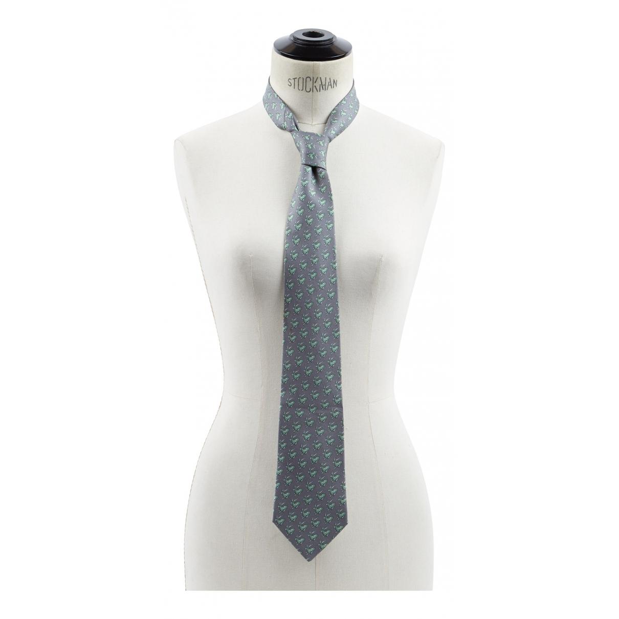 Hermes \N Krawatten in  Anthrazit Seide