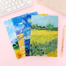 4packs Oil Painting Cover Notebook