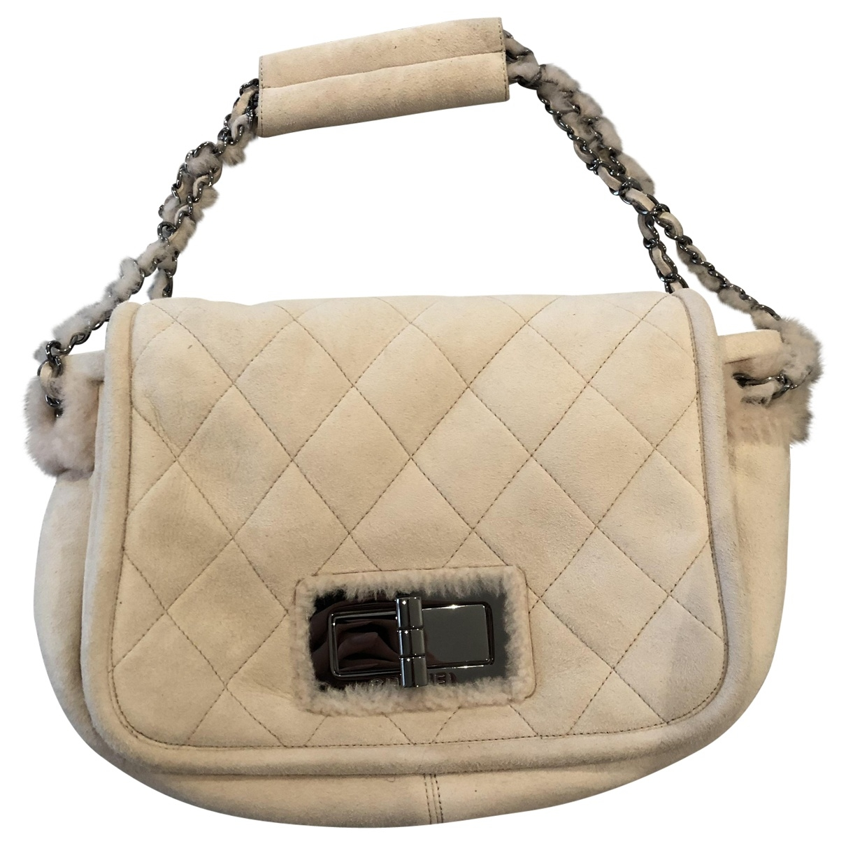 Chanel \N Handtasche in  Rosa Veloursleder