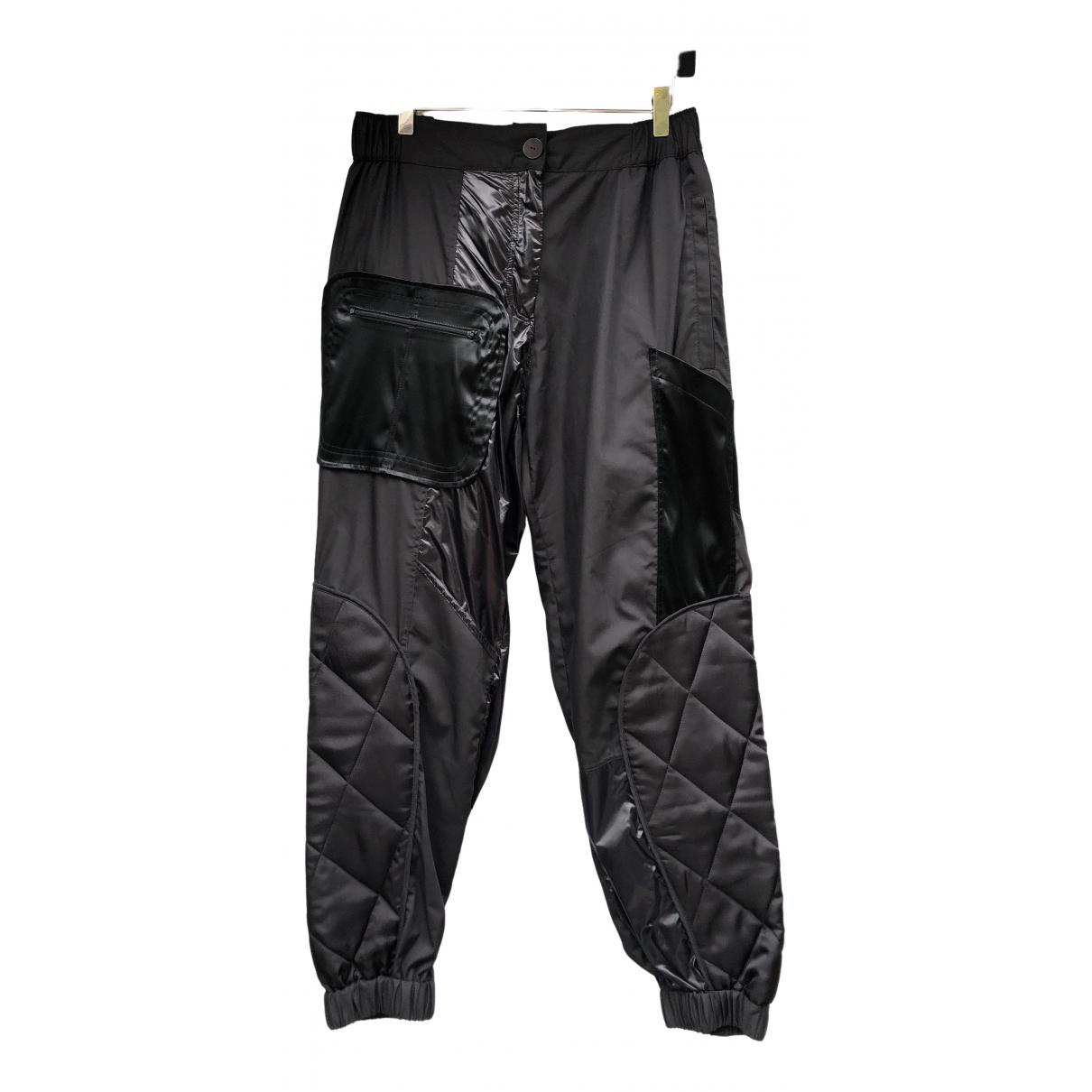 Pantalon en Algodon Negro Preen By Thornton Bregazzi