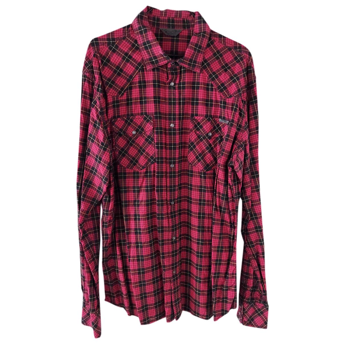 Diesel - Chemises   pour homme en coton - rouge