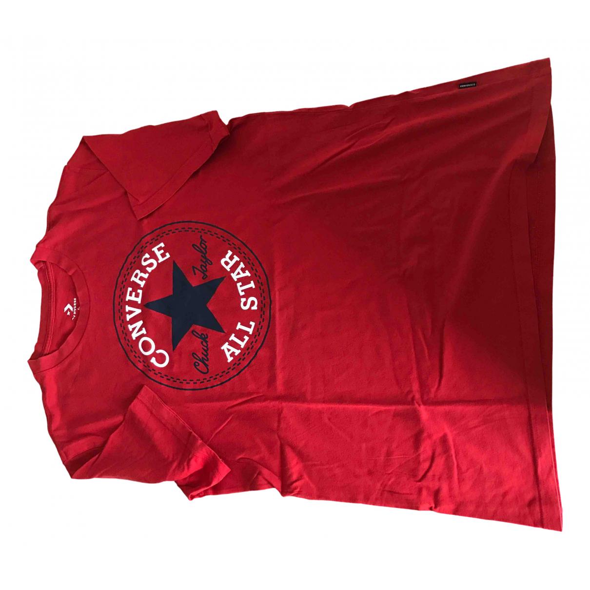 Converse - Tee shirts   pour homme en coton - rouge