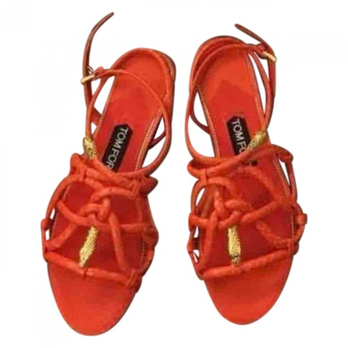 Tom Ford \N Sandalen in  Orange Python