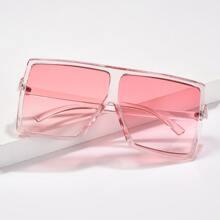 Pink Square Translucent Sunglasses