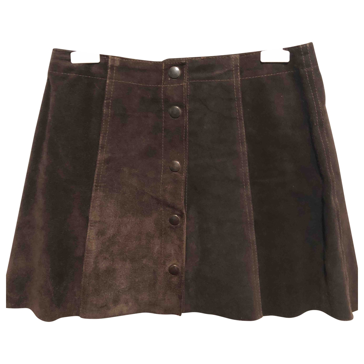 Impérial \N Brown Leather skirt for Women M International