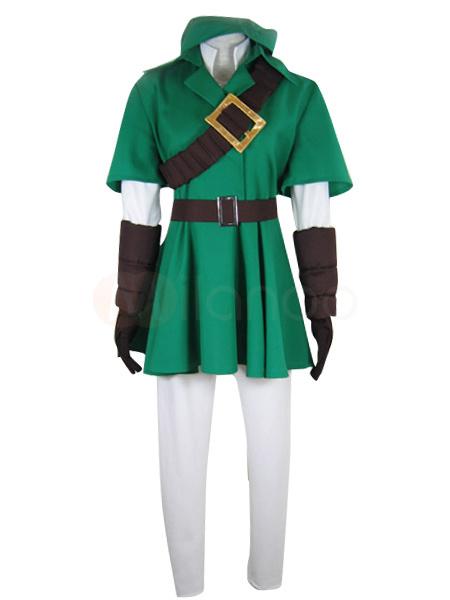 Milanoo Fashionable The Legend of Zelda Link Cosplay Costume Halloween
