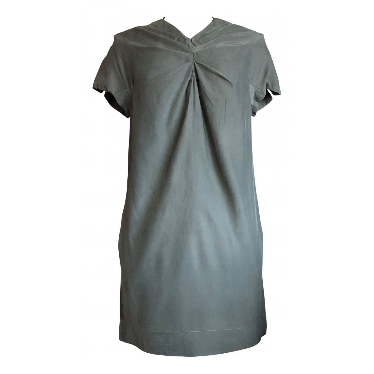 Maje \N Khaki Silk dress for Women M International