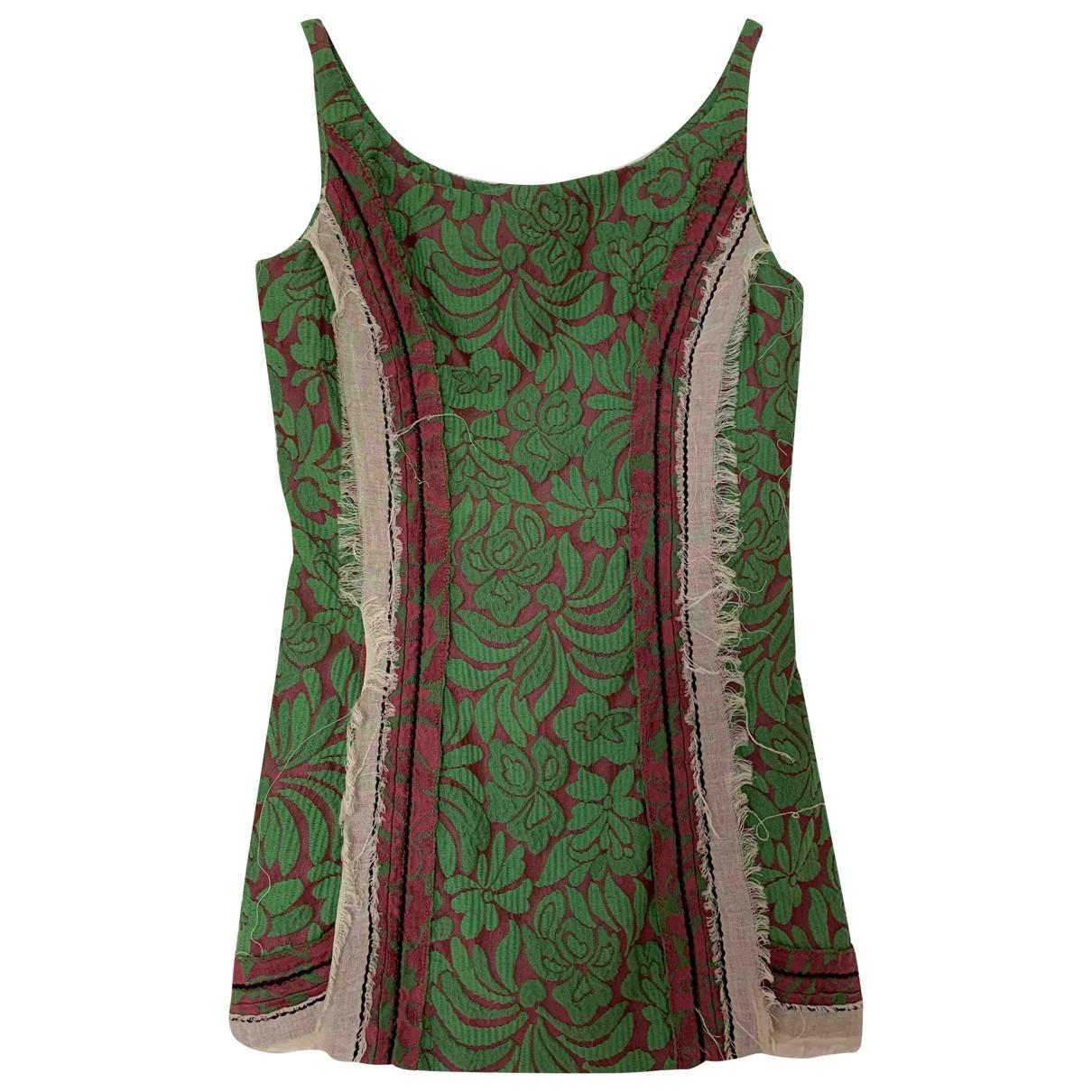 Prada - Top   pour femme en coton - vert
