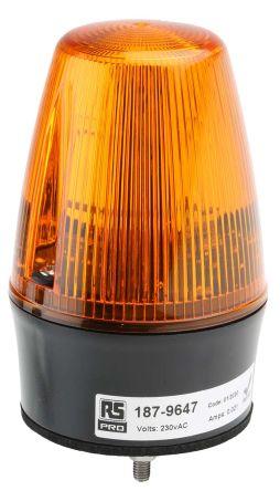 RS PRO Amber Xenon Beacon, 230 V ac, Flashing, Surface Mount, Wall Mount