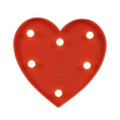 Valentines Heart LED Light With 6 LED 6.5