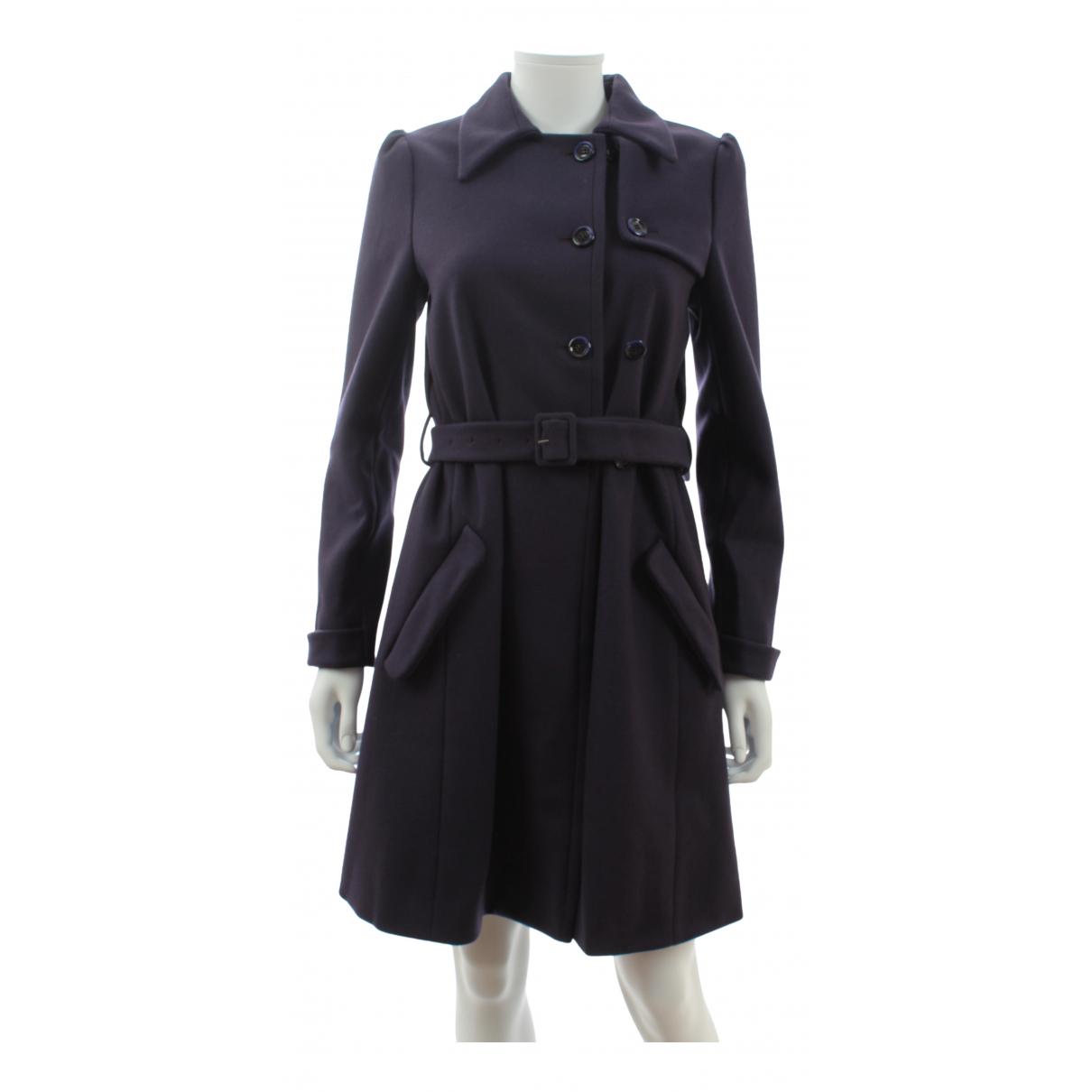 Miu Miu - Manteau   pour femme en laine - violet