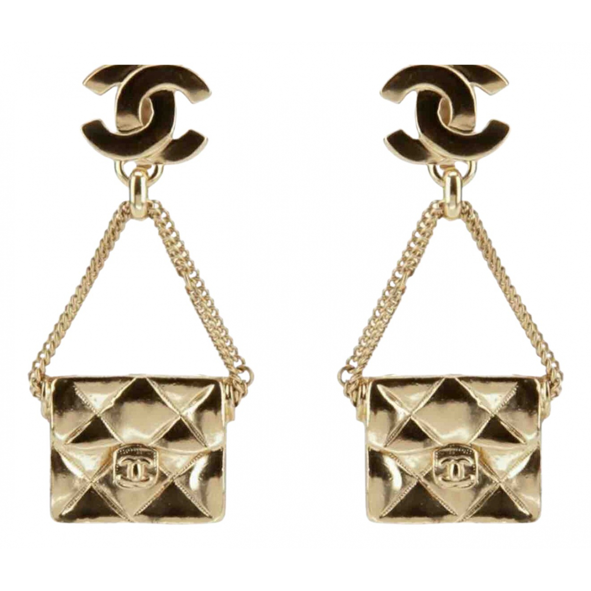 Chanel N Gold Gold plated Earrings for Women N
