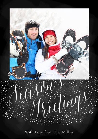 Holiday Photo Cards Flat Matte Photo Paper Cards with Envelopes, 5x7, Card & Stationery -Snow Flurry